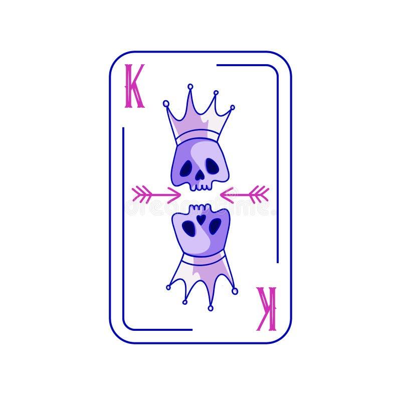 Nieżywy królewiątko partii pokeru karta do gry ilustracji
