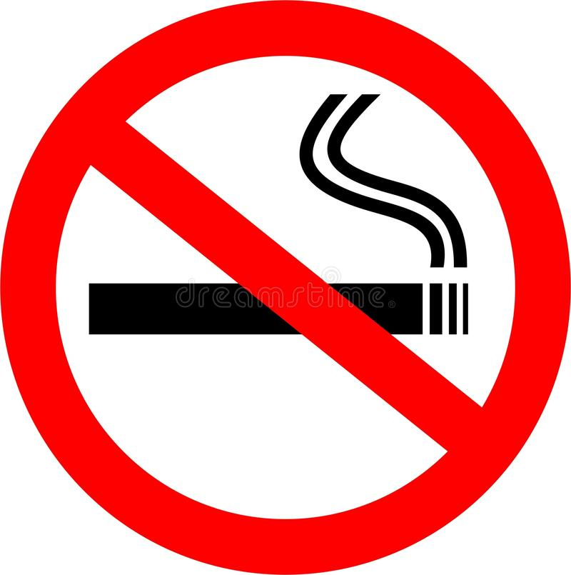 nieżywy palenie zabronione royalty ilustracja