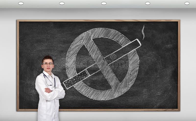 nieżywy palenie zabronione ilustracja wektor