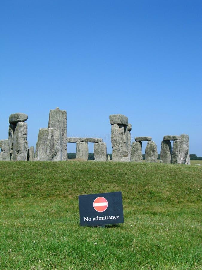 nie admitance stonehenge zdjęcie stock