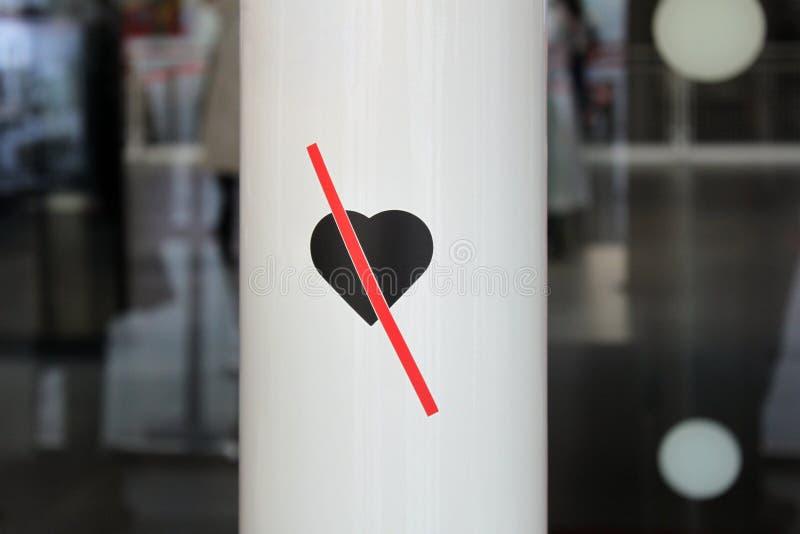nie kocha wchodzić do nie Wchodzić do bez miłości zdjęcie royalty free