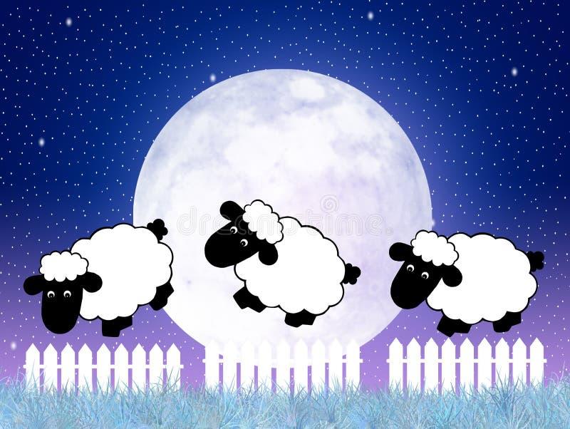 nie licząc owce ilustracja wektor