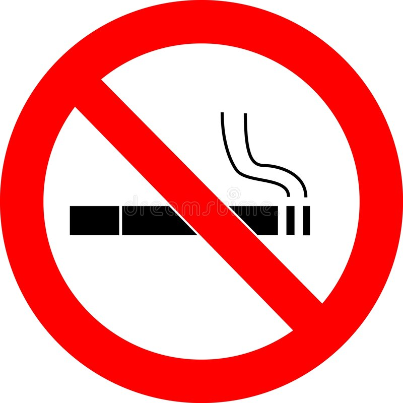 nie ma palenia podpisać wektora ilustracja wektor