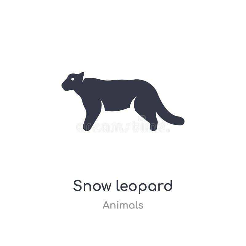 ?nie?nego lamparta ikona odosobnionej śnieżnego lamparta ikony wektorowa ilustracja od zwierząt inkasowych editable ?piewa symbol ilustracja wektor