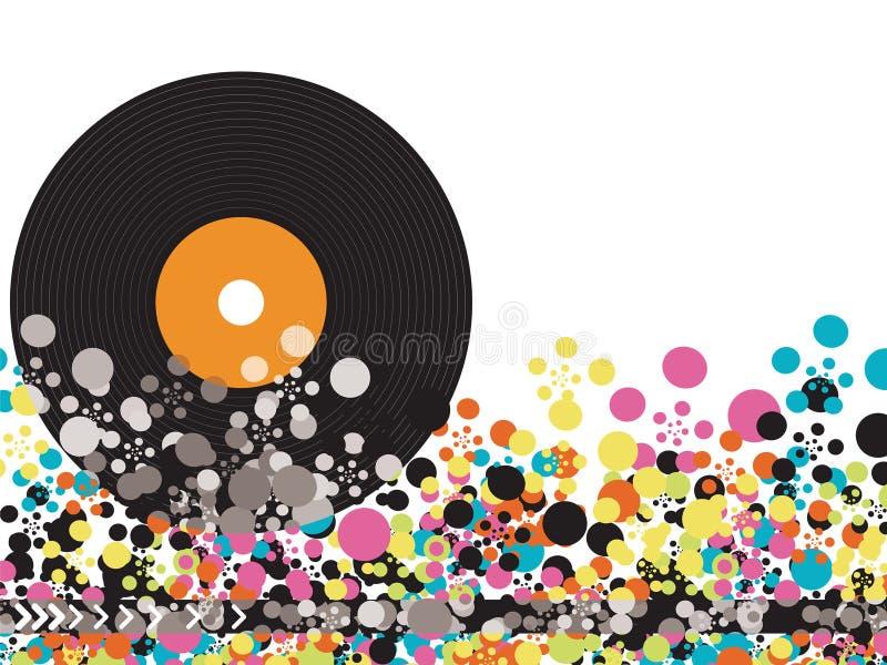nie stawiaj kropki nad ' winylowych disco strzały. ilustracji
