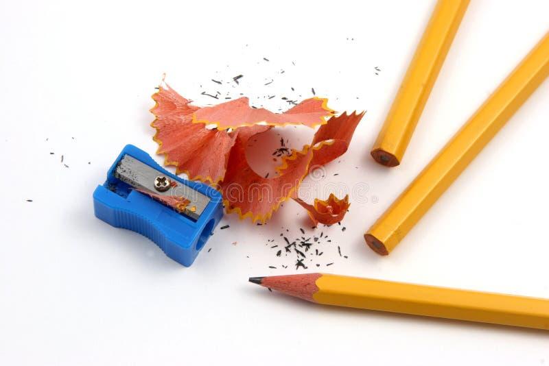 nie wskazuje ostrzenie ołówek obraz stock