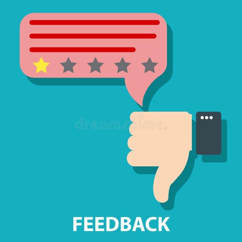 Nie zgadzać się informacje zwrotne pojęcia wektoru ilustrację lub nie lubić Klient informacje zwrotne i ilustracji
