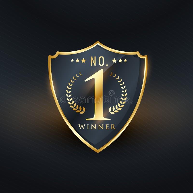 Nie 1 zwycięzca odznaki etykietki złoty wektorowy projekt ilustracja wektor