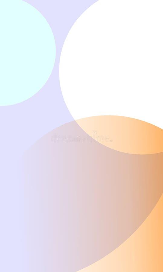 Nieba światła białego pomarańczowego colour round kształt ilustracja wektor