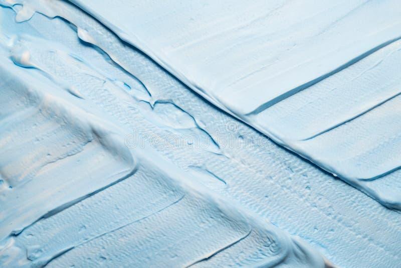 Nieba błękita farby tła krzyżujący brushstrokes obraz stock