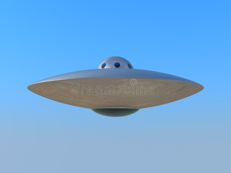 nieba błękitny latający ufo royalty ilustracja