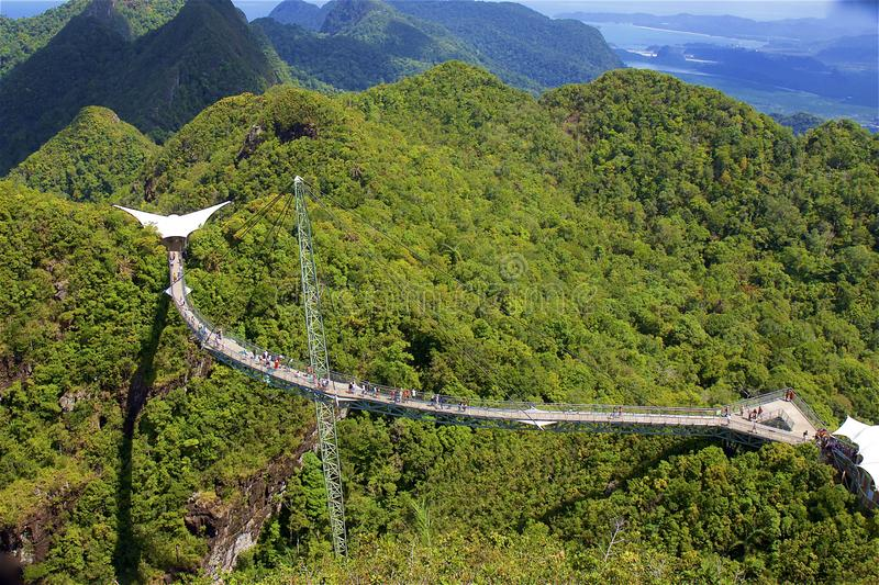 Nieba Langkawi i mostu widoki, Malezja obraz stock