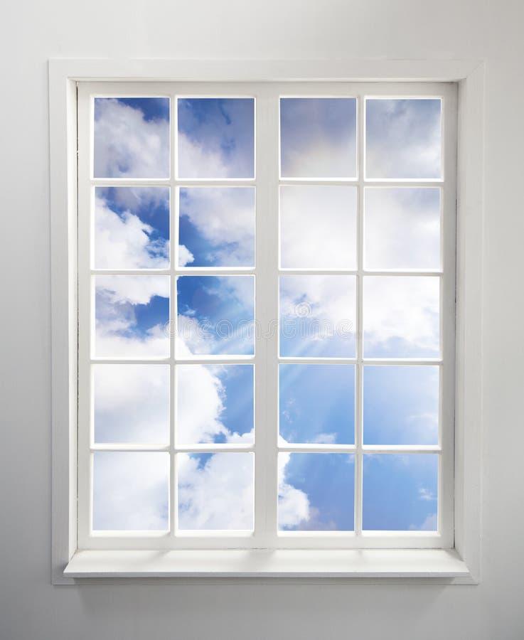 nieba okno obraz royalty free