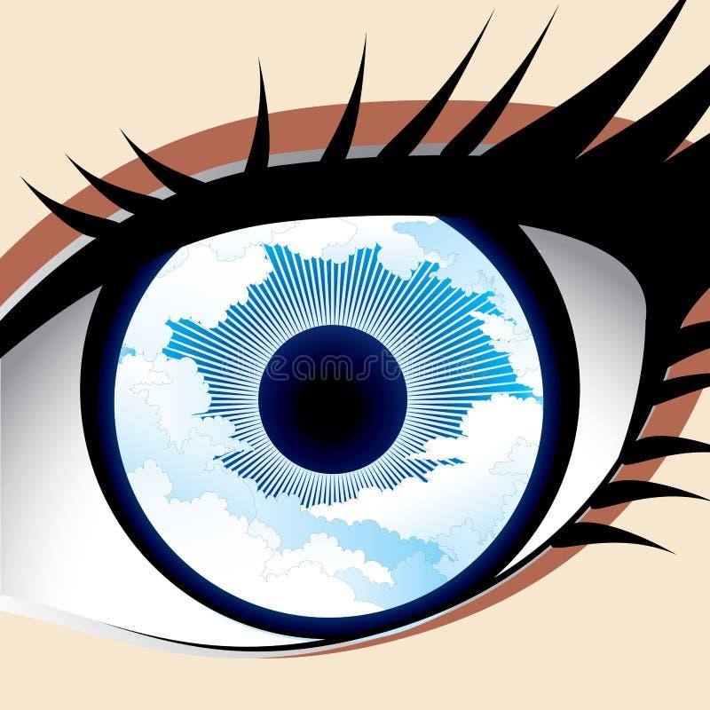 Nieba oko royalty ilustracja