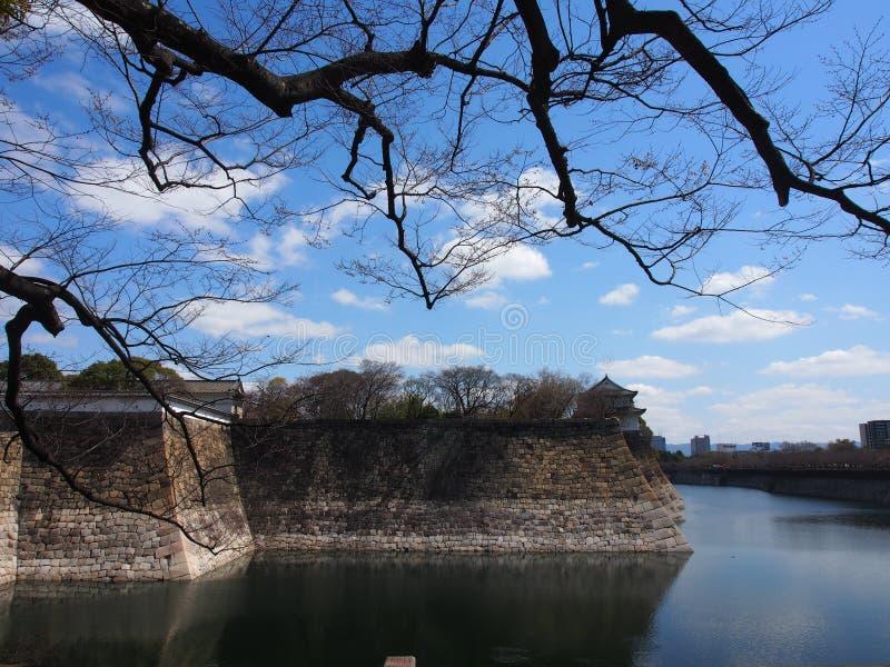 Nieba Osaka Japonia Grodowa podróż fotografia stock