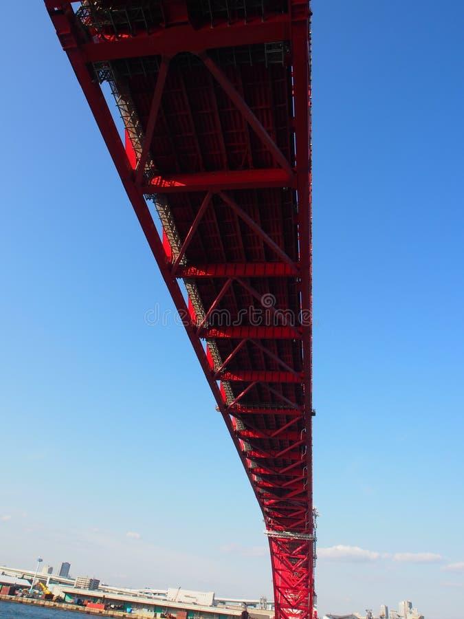 Nieba Osaka Kansai Japonia Bridżowa podróż obraz royalty free