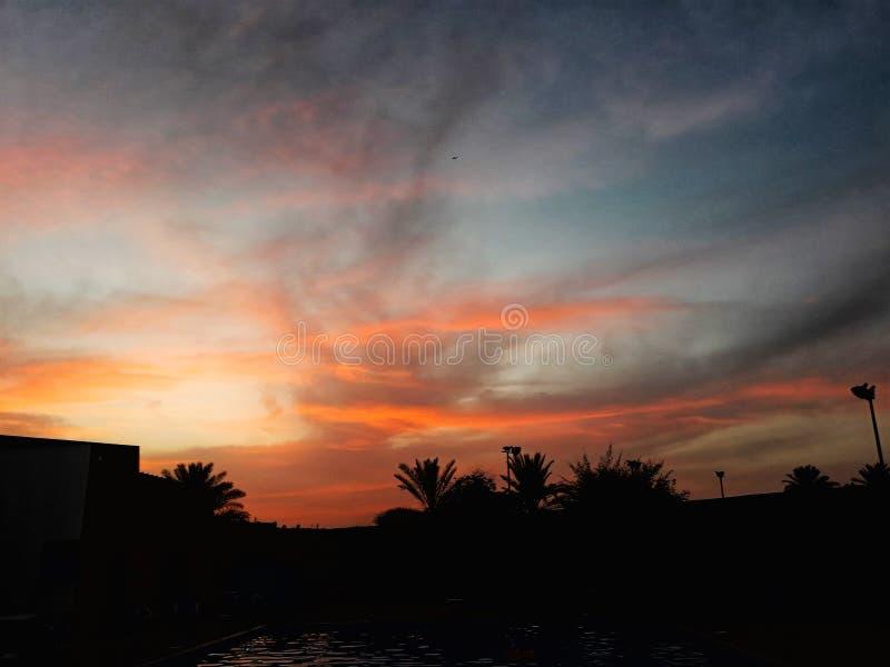 nieba pomarańczowe obrazy stock