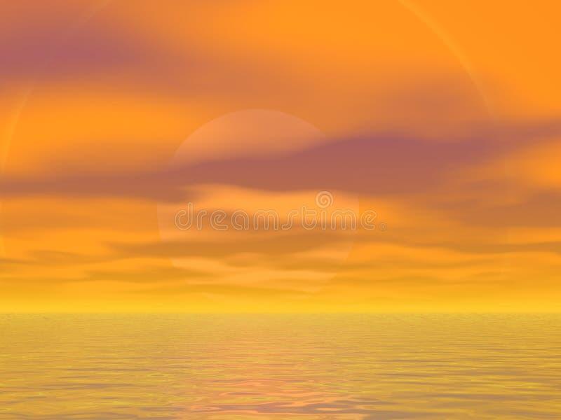 nieba pomarańczowe royalty ilustracja