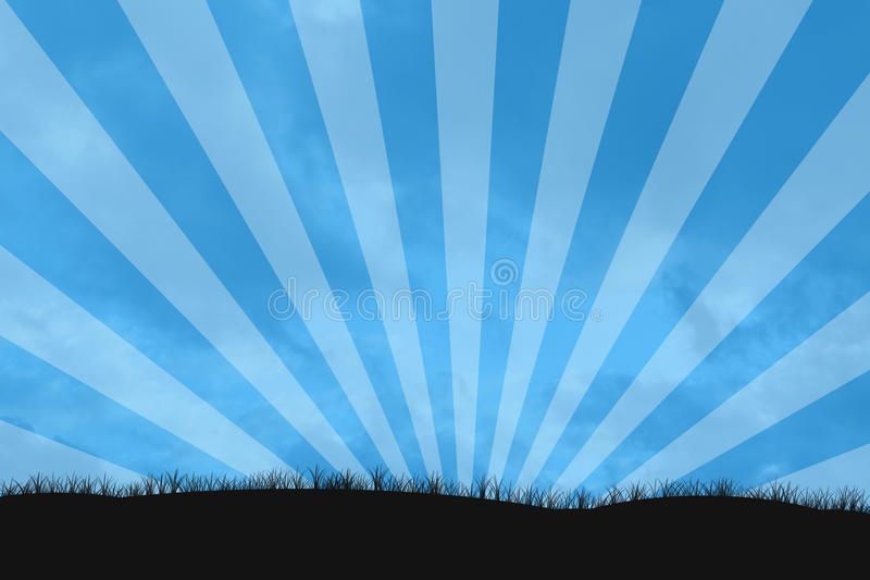 nieba sunburst ilustracji