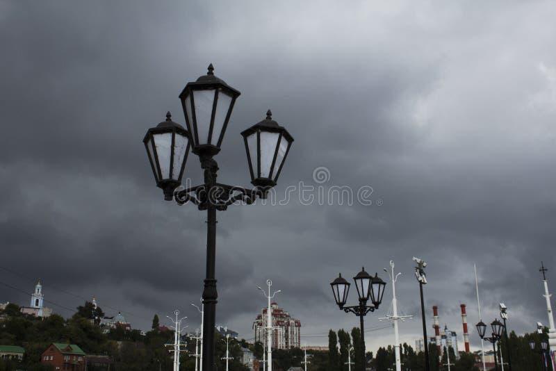 Nieba Voronezh deszczu dzień fotografia stock