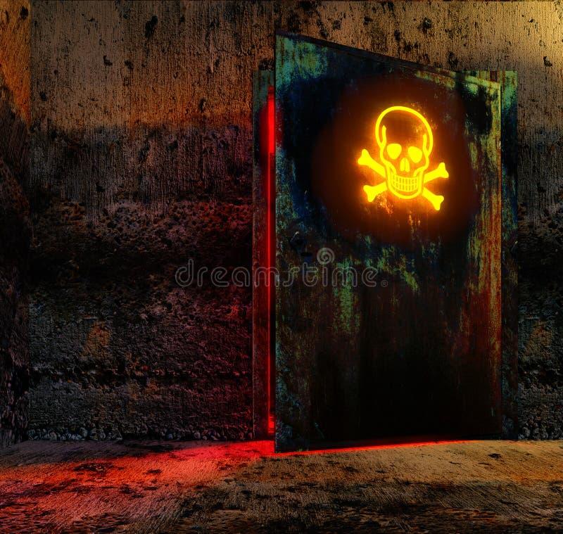 niebezpieczeństwa drzwi ilustracja wektor