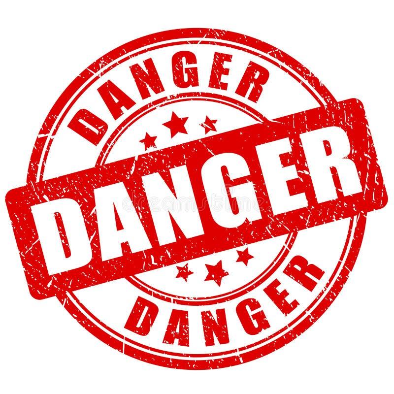 Niebezpieczeństwa grunge wektoru znaczek ilustracja wektor