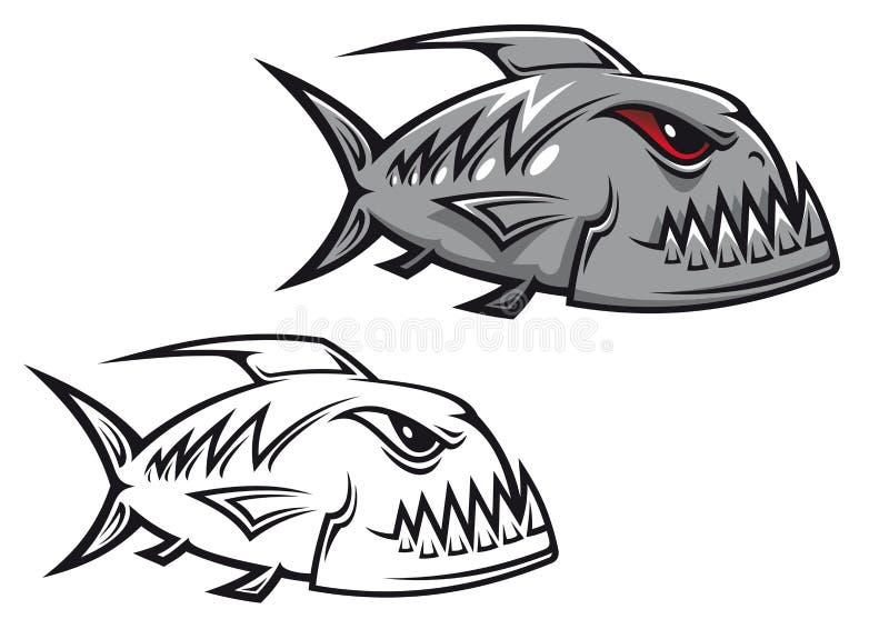 niebezpieczeństwa piranha ilustracja wektor