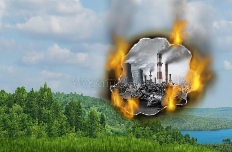 Niebezpieczeństwa zmiana klimatu ilustracji