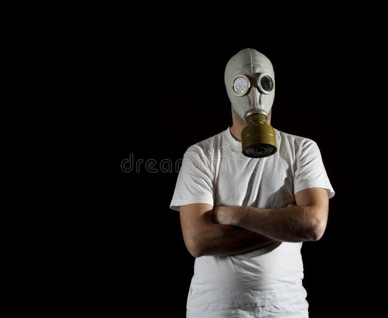 niebezpieczeństwo maska gazowa fotografia royalty free