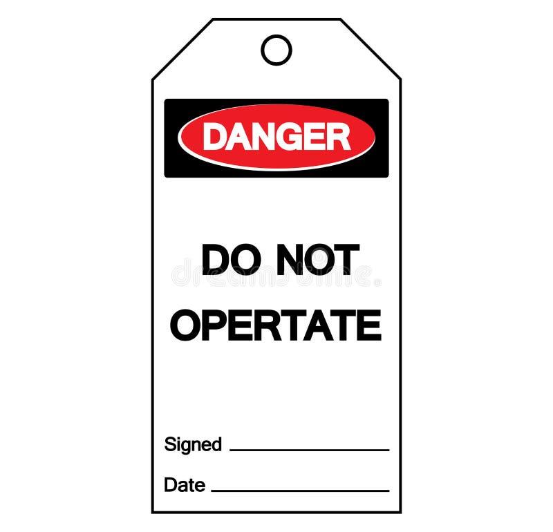 Niebezpieczeństwo no Działa etykietka symbolu znaka, Wektorowa ilustracja, Odizolowywa Na Białej tło etykietce EPS10 royalty ilustracja