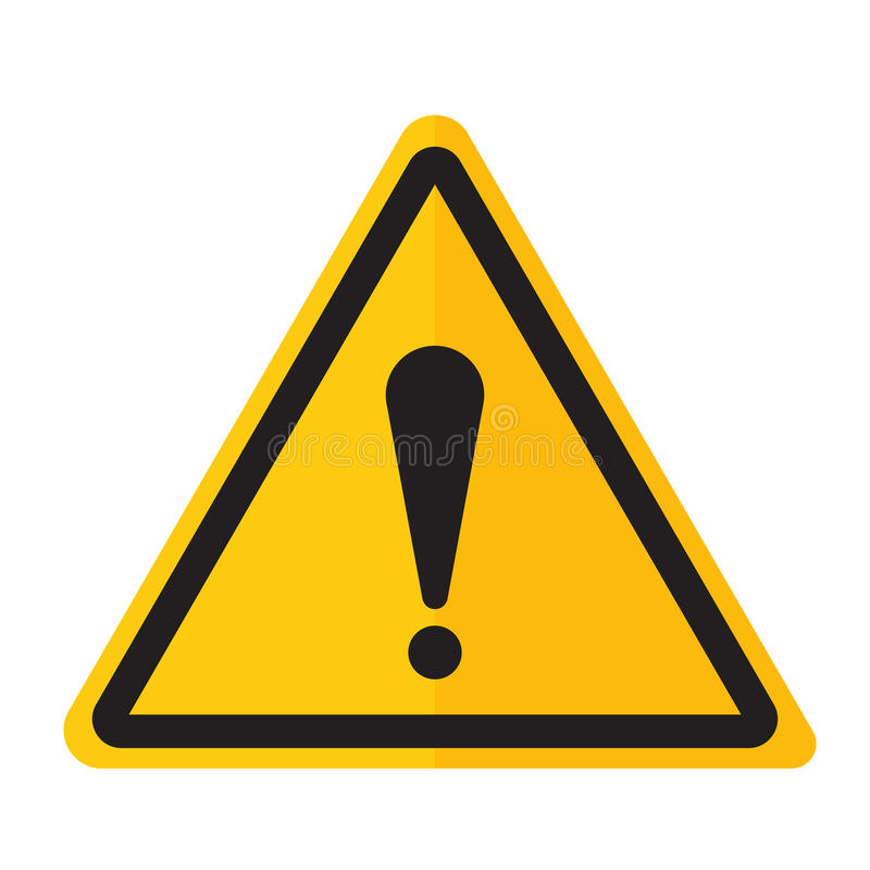 Niebezpieczeństwo okrzyka punktu znaka ostrzegawcza ikona zdjęcia stock