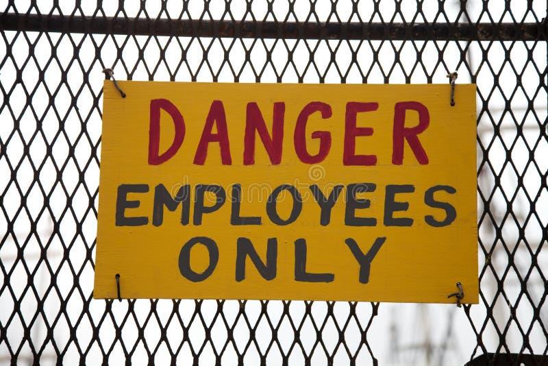 niebezpieczeństwo pracownicy obrazy stock