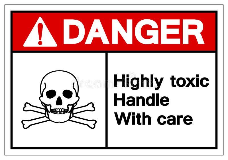 Niebezpieczeństwo rękojeści symbolu Wysoce Toksyczny znak Ostrożnie, Wektorowa ilustracja, Odizolowywa Na Białej tło etykie ilustracja wektor