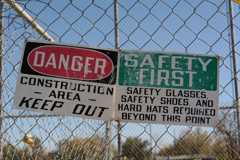 Niebezpieczeństwo strefa zdjęcie royalty free