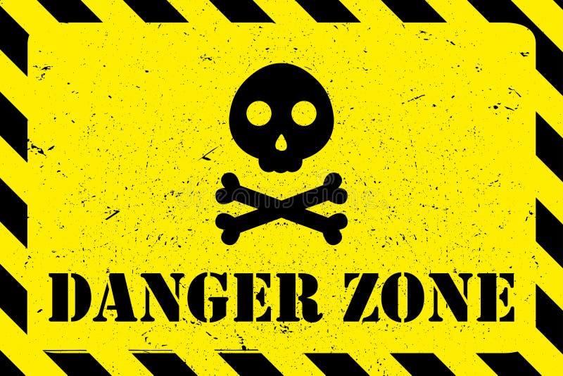 Niebezpieczeństwo strefy grunge tło royalty ilustracja
