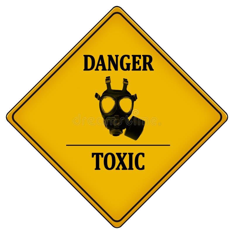 Niebezpieczeństwo substancja toksyczna ilustracji