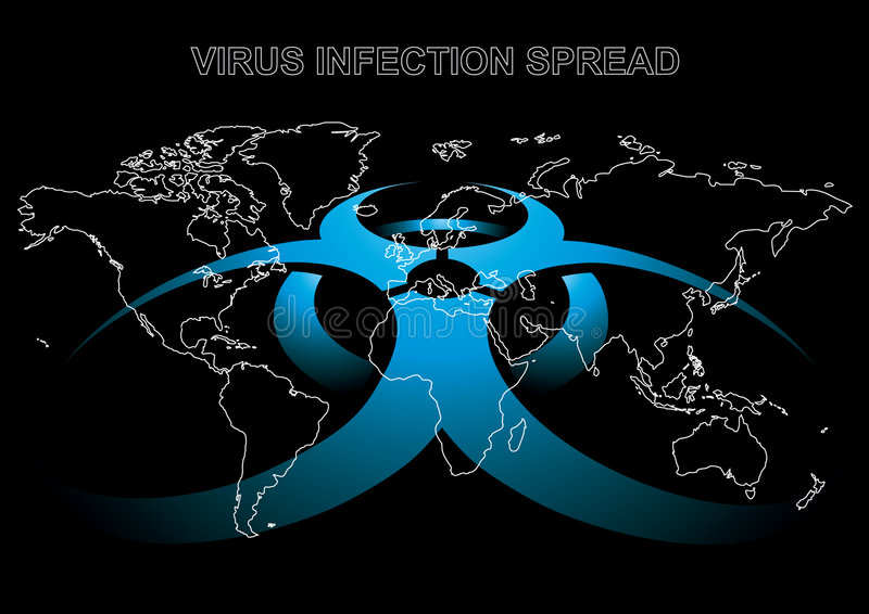 niebezpieczeństwo wirus ilustracja wektor