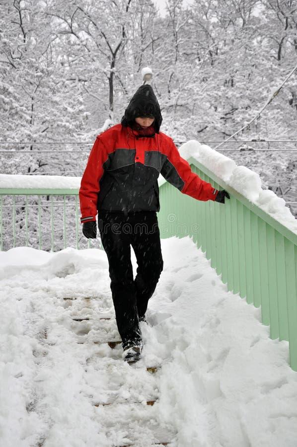 niebezpieczeństwo zima fotografia royalty free