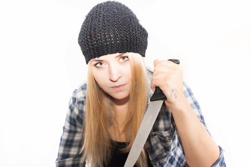 Niebezpieczna blondynka zdjęcia royalty free