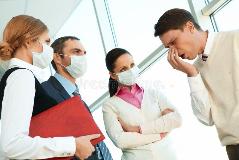 niebezpieczna choroba obrazy stock