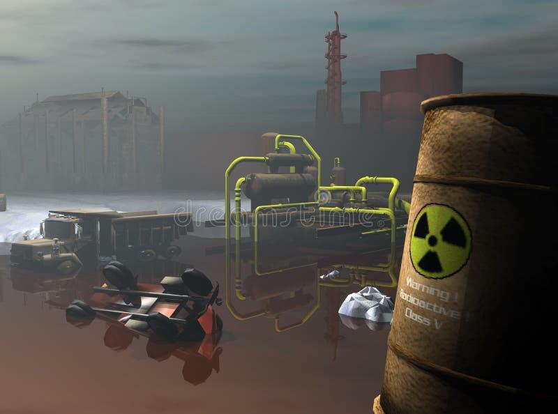 niebezpieczne odpady przemysłowe royalty ilustracja