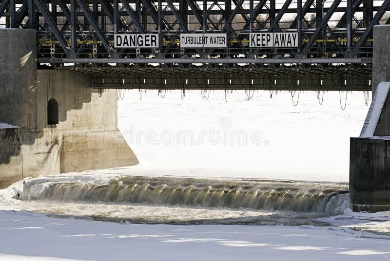 niebezpieczne wody fotografia royalty free