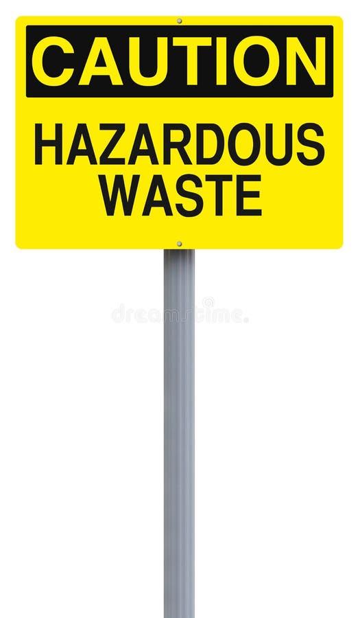 Niebezpieczni odpady fotografia royalty free