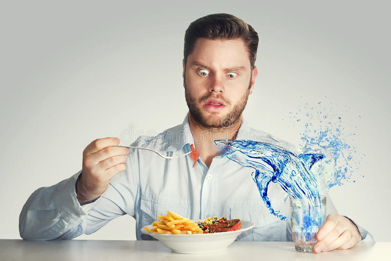 Niebezpieczny lunch zdjęcia stock