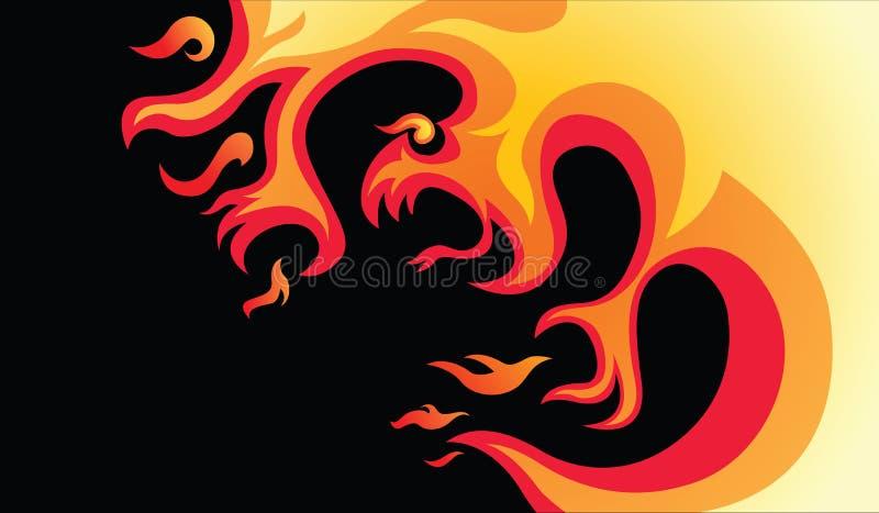 Niebezpieczny ogień ilustracji