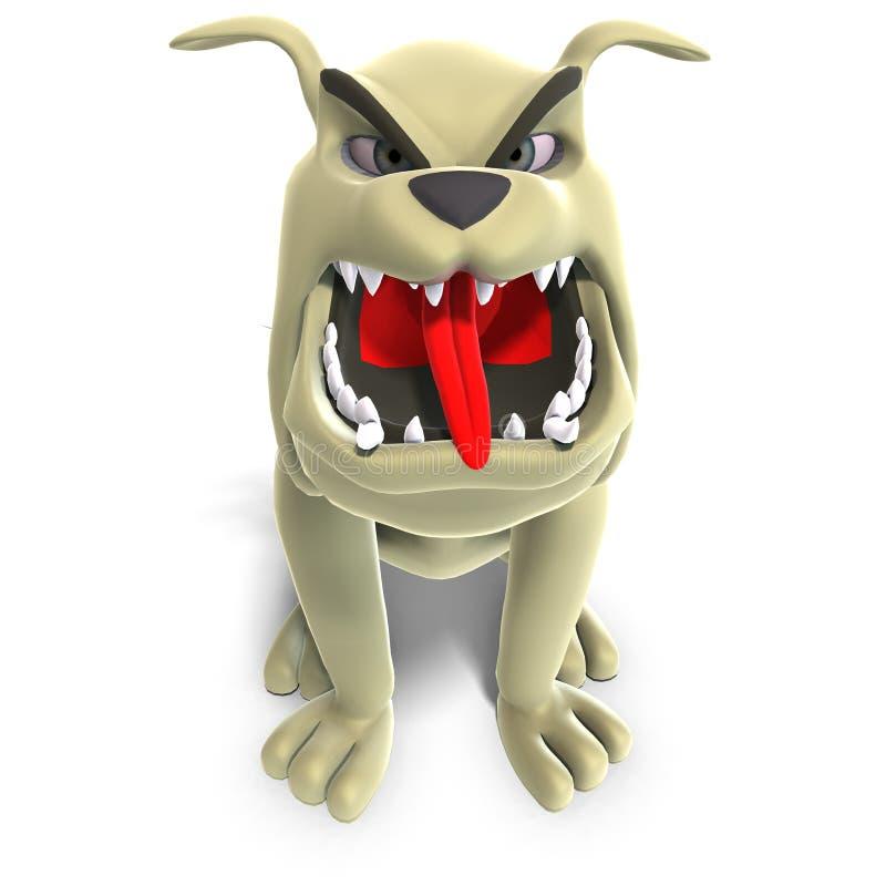 niebezpieczny psi śmieszny Toon ilustracji