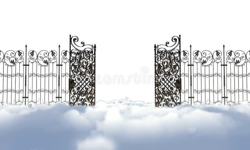 Niebiańska brama ilustracji