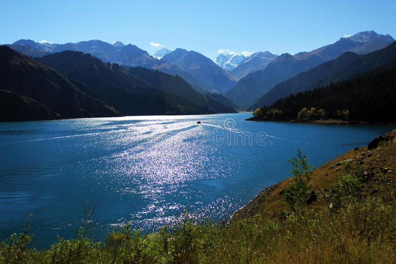 Niebiański jezioro fotografia stock