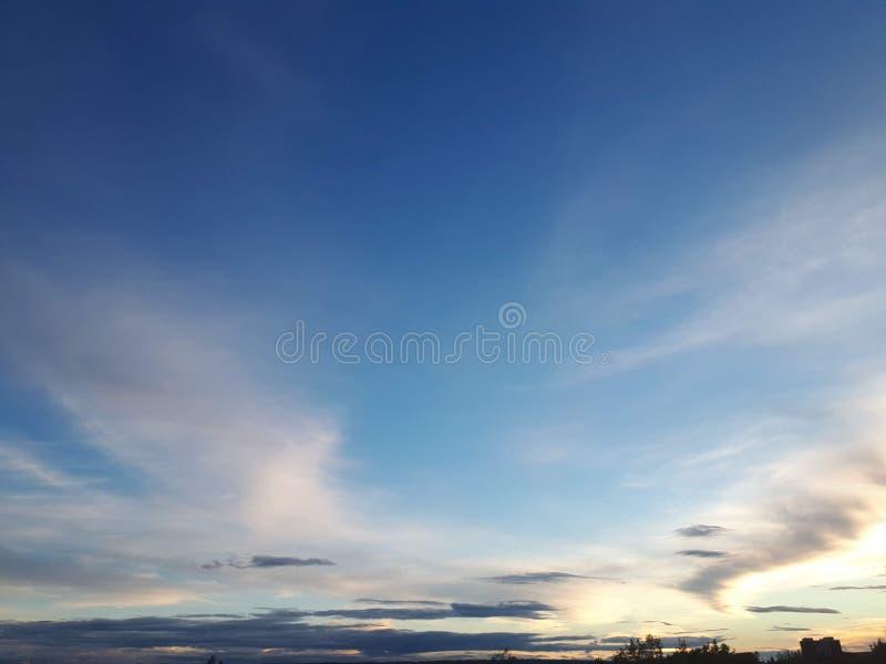 Niebiański nieba światła piękna dzienny mothernature fotografia stock