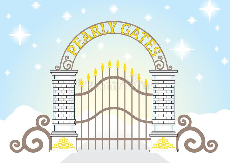 Niebiański Perłowy brama wektor ilustracja wektor